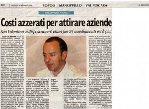 Sviluppo e lavoro area Val Pescara