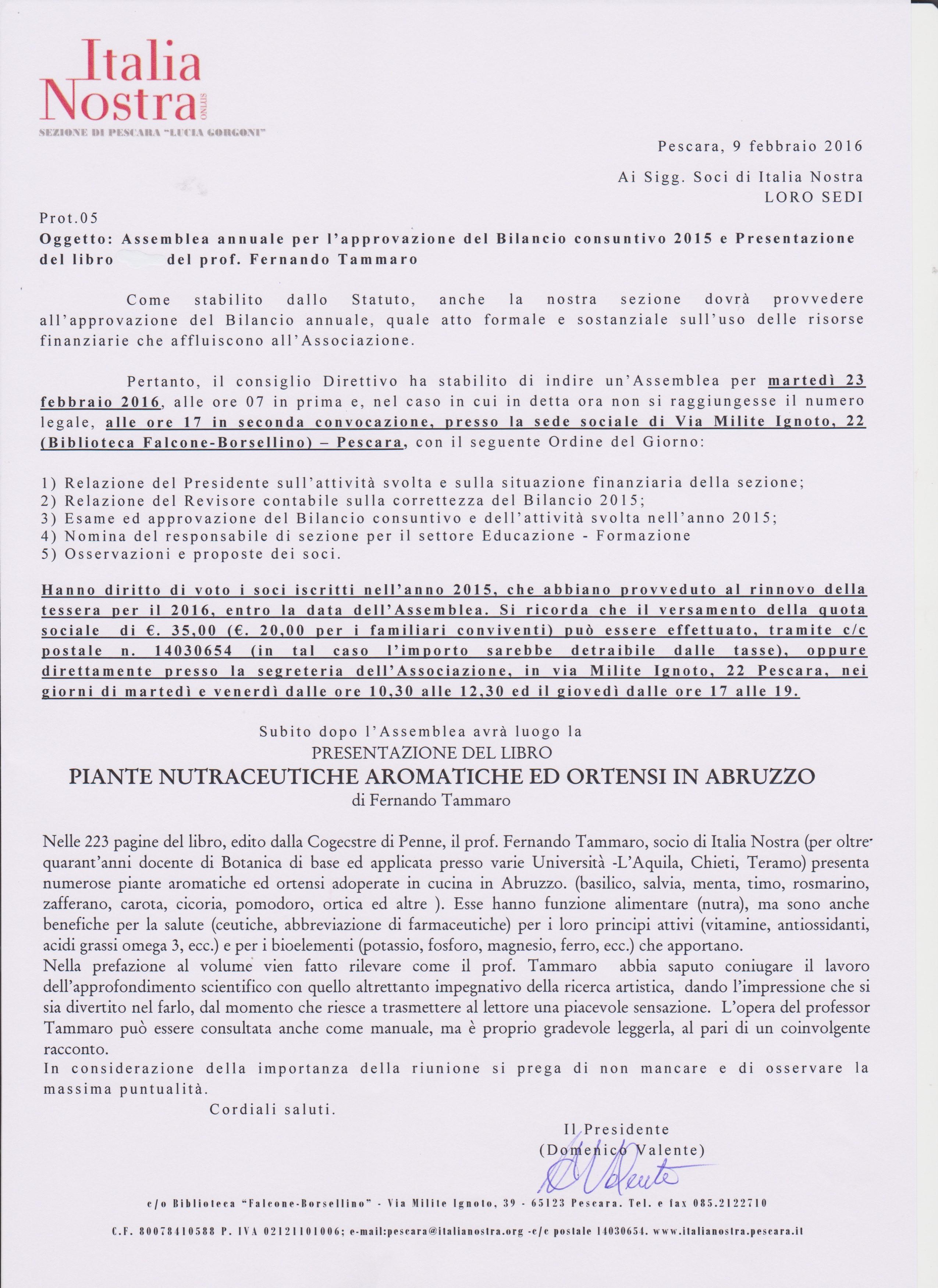 il 23 febbraio assemblea degli iscritti italia nostra