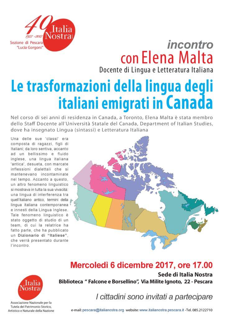 1074 - ...........INVITO IN- Canada - 6 dicembre 2017