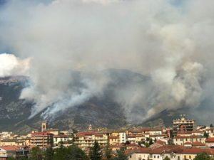incendio monte morrone sulmona