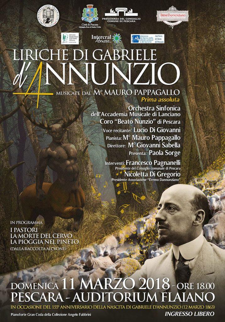 1105 - ...........Locandina Liriche d'Annunzio
